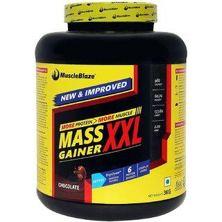 MuscleBlaze Mass Gainer XXL (3Kg / 6.61lbs, Chocolate)