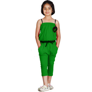 Naughty Ninos Girls Green Stretch Jumpsuit
