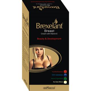 Brexlent Breast Enlarge Cream (Set Of 2) 60 Gms Each With Free Brexelent Wash Gel