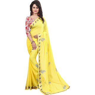 London Beauty Multicolor Nylon Self Design Saree Without Blouse