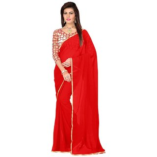 FASHION RED COLOR FANCY  saree