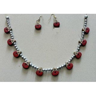 Handmade Terracotta Jewelry Big Set - Tsb311a