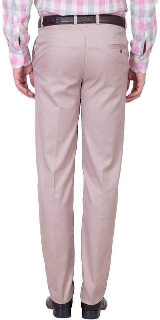 T.R Premium Men/'s Chino Solid Formal Comfort Pants Khaki Brown Cotton Blend 194