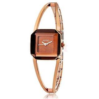 KIMIO 463 Women's Quartz Analog Watch Bracelet (Brown)