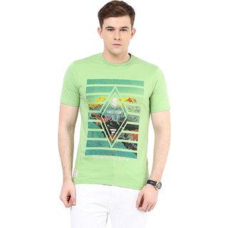 Ziera Green Round T Shirt