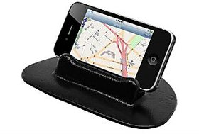 Autosky Portable Black Silicone Gel Non Slip Mat For Car Dashboard Hold iPhone GPS iPod mobile holder