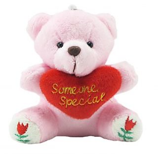 Tickles Pink Someone Special Teddy With Heart Stuffed Soft Plush Toy Teddy Bear 9 cm T708