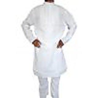 premium cotton white kurta pyjama size 44'