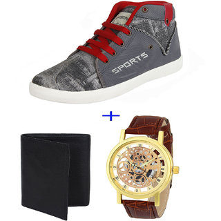 Armado Combo Pack For Men/Boys Casual Shoes with Wallet  Watch