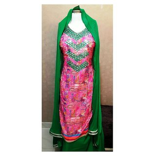 Unstitched Printed Cotton Dress Material