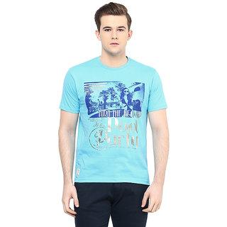 Ziera Turquoise Round T Shirt