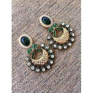 Designer Earrings Green