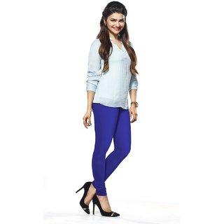 Womens Royal Blue Cotton Churidar Leggings