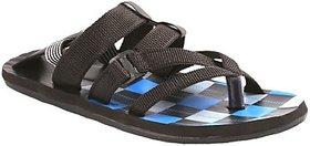 Stylos Mens Black Sandals