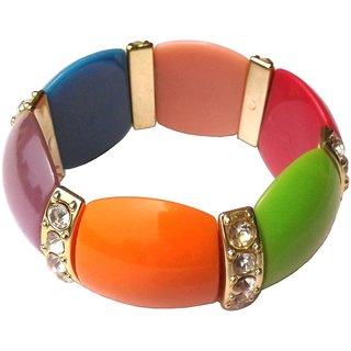 Shreya Collection Stretchable Acrylic Beaded Multicolour Bracelet - 663.1