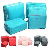 Tuzech Combo 5 In 1 Sets Travel Bags In Bag Organizer Set Of 5 Bags (Random Colour)