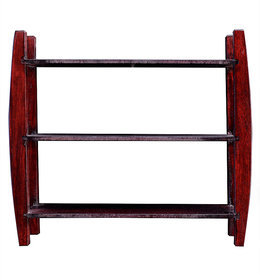 La Stella Mahogany Wooden 4 Tier Wall Shelf  1