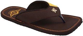 Stylos Mens Brown Slippers