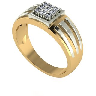 Diamond Gents Ring in 18 Ct. Gold