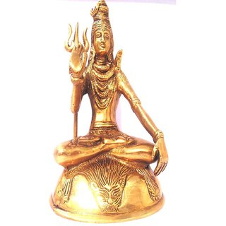 Divine Gods Lord Shivji brass statue and Idol - 20.6 cms