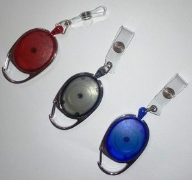 ID Badge Oval Set of (Red, Black And Blue one each)