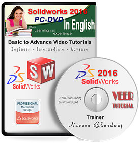 Solidworks 2016 Advance Video Training (1 DVD, 11 Hrs Training) in English