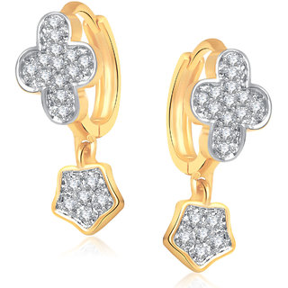 Amaal ali Earrings For Girls  Women Gold Plated In American Diamond B0188