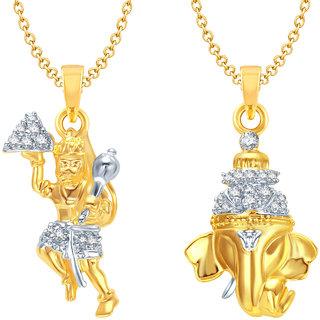 Amaal God Pendant Gold Plated Set bo For Men  Women Com0143