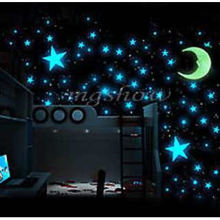 Xtremeretail Paper Magic Radium Glow Stars Sky Wall Sticker - 1 Pc