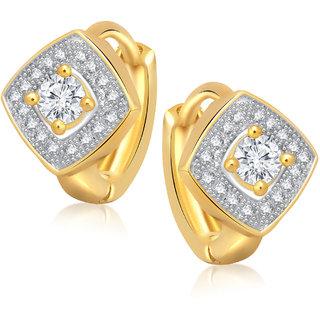 Meenaz Ali Earrings For Girls  Women Gold Plated In American Diamond -B135