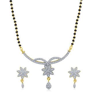 Inaya White Gold Plated Mangalsutra Set -TsA124