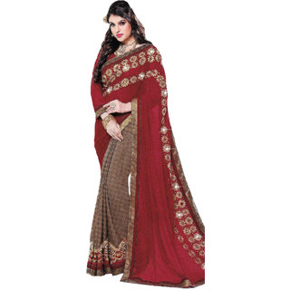 Prodigious Retail Women Designer Embroidered  Georgette Back 2 Back  Saree(100060030203)