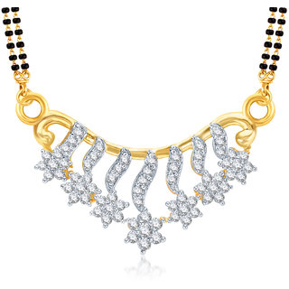 Amaal Mangalsutra For women Gold Plated In American Diamond Cz Pendant MS0710