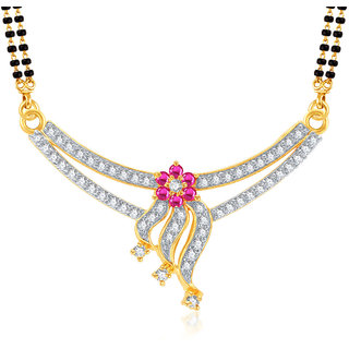 Amaal Mangalsutra For women Gold Plated In American Diamond Cz Pendant MS0722