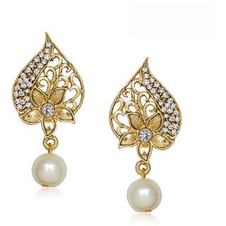 Amaal Traditional Earrings Fancy Party Wear Kundan Moti Diamond Earrings For Women T0301