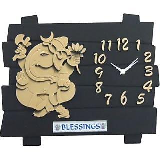 Yoga Handcrafted Plastic Wall Clock (14 Dia )