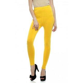 Yellow Ankle Length Legging