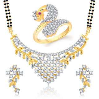 Amaal Mangalsutra Jewellery Set bo Gold Plated For Women  Com013214