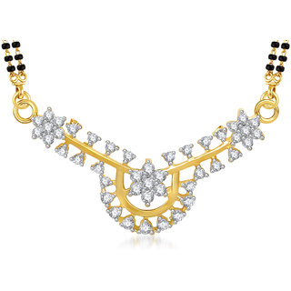 Amaal Mangalsutra For women Gold Plated In American Diamond Cz Pendant MS0773