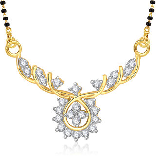 Amaal Mangalsutra For women Gold Plated In American Diamond Cz Pendant MS0814