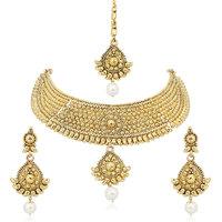 Amaal Traditional Necklace Sets Jewellery Sets Gold Plated With Earrings For Women,GirlsNL0126