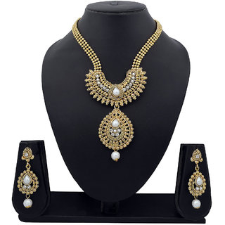 Amaal Traditional Necklace Sets Jewellery Sets Gold Plated With Earrings For Women,GirlsNL0117