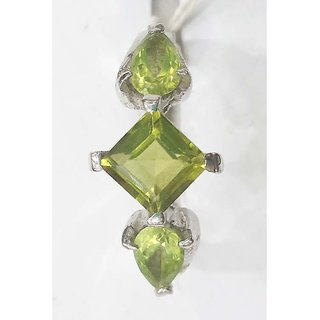 Lemon Topaz made in silver with rhodium plating