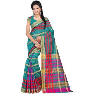 STARLET DIVA Womens Cotton Silk Jari Top-Dyed Saree