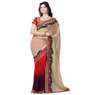 Yuvastyles Womens Multi Color Tone Rich Printed Saree