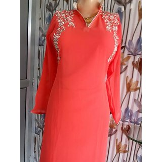 Pure Georgette kurti  Red colour