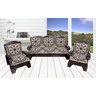 Yellow Weaves 6 Piece Brown Sofa  Chair Cover Set