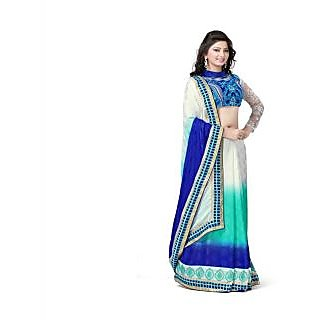 Yuvastyles Womens Multi Color Border Look Saree