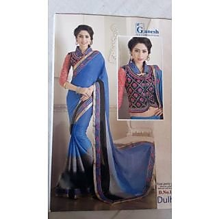 Chiffon saree with Coty blouse