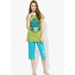 Night Suit Set Capri with T.Shirt